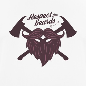 Respect the beard t shirt - Men's Breathable T-Shirt