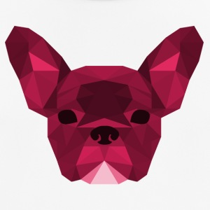Low Poly Frenchie roze - mannen T-shirt ademend