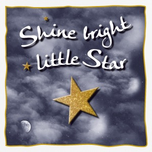 Shine bright / bright light small star - Men's Breathable T-Shirt