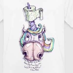 Unicorn with toilet paper - Men's Breathable T-Shirt