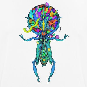 Spatial Beetle Multicolor - Pustende T-skjorte for menn