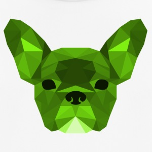 Low Poly Frenchie groen - mannen T-shirt ademend