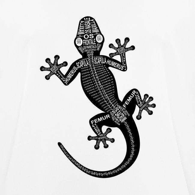wort-anatomie | Gecko-Skelett - Männer T-Shirt atmungsaktiv