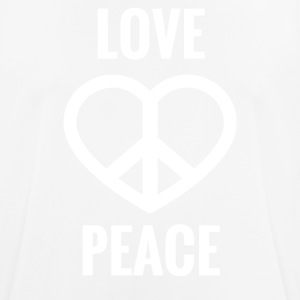 LOVE AND PEACE - Männer T-Shirt atmungsaktiv