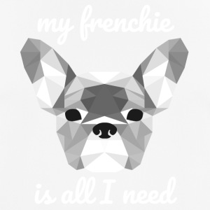 Low Poly Frenchie wit - mannen T-shirt ademend