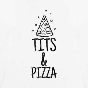 Tits and Pizza T-shirt - Men's Breathable T-Shirt