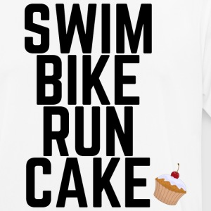 Swim Bike Run Cake - Männer T-Shirt atmungsaktiv