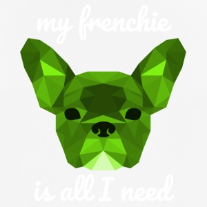 Low Poly Frenchie green - Männer T-Shirt atmungsaktiv