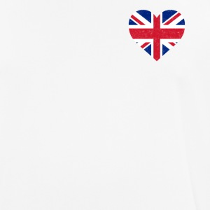 UK Flag Shirt Heart - Brittish Shirt - Herre T-shirt svedtransporterende
