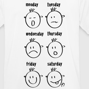 Weekdays Smilies - Men's Breathable T-Shirt