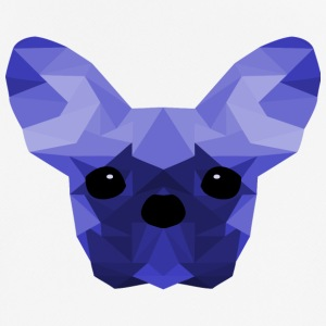 French Bulldog Low Poly Ontwerp blauwe - mannen T-shirt ademend