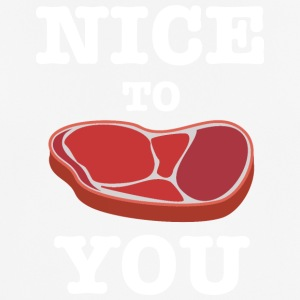 Nice to Meat YOU Steak - mannen T-shirt ademend