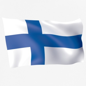 flag of Finland - Men's Breathable T-Shirt