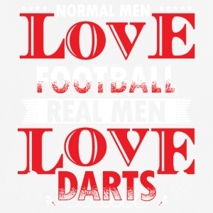 DARTS - REAL MEN LOVE DARTS - Männer T-Shirt atmungsaktiv