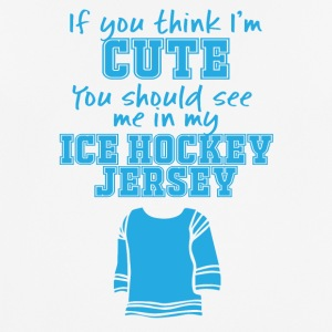 Hockey: If you think i'm cute, you see shoulderstand - Men's Breathable T-Shirt
