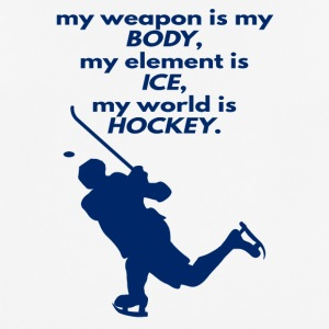 Hockey: Mijn wapen is mijn lichaam, mijn element Ice - mannen T-shirt ademend