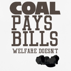 Mining: Coal pays bills, welfare doesn't - Men's Breathable T-Shirt