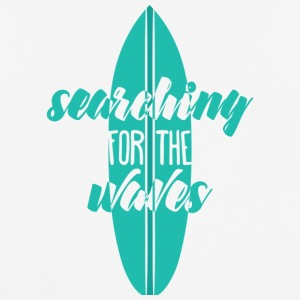 Surfer / surfen: Searching For The Waves - mannen T-shirt ademend