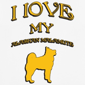 I love my dog Alaskan Malamute - Men's Breathable T-Shirt
