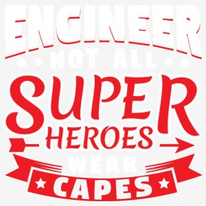 IKKE ALLE SUPER HEROES WEAR CAPES - ENGINEER - Herre T-shirt svedtransporterende