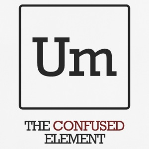 Chemist / chemisch: To - The Confused element - mannen T-shirt ademend