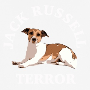 Jack Russell terror3 white - Men's Breathable T-Shirt