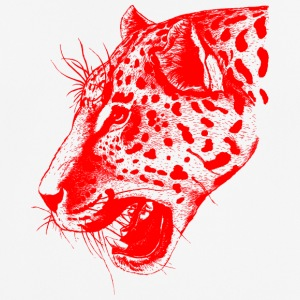 Leopard red, leopard, big cat - Men's Breathable T-Shirt