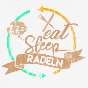Eat Sleep Radeln Repeat - Männer T-Shirt atmungsaktiv