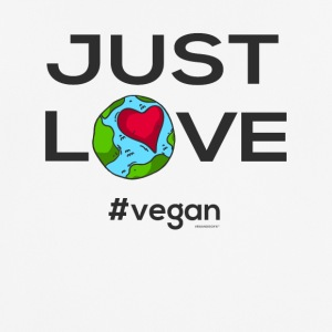 "Vegan T-Shirt ""Just LOVE #vegan"" - Pustende T-skjorte for menn"