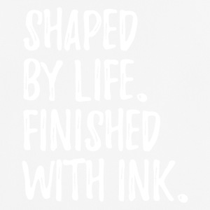 shaped by life finished with ink text only v1 - Männer T-Shirt atmungsaktiv