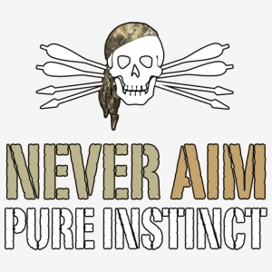 NEVER AIM - Pure Instinct = Instinctive Archery - Men's Breathable T-Shirt