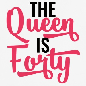 40ste verjaardag: The Queen Is Forty - mannen T-shirt ademend