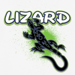 Cool tribal lizard - Pustende T-skjorte for menn