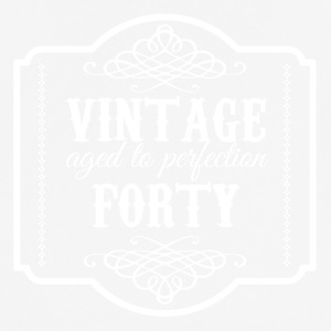 40. Geburtstag: Vintage Aged To Perfection Forty - Männer T-Shirt atmungsaktiv