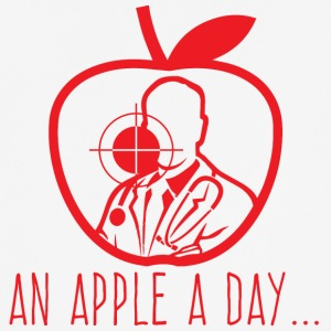 Doktor / Arzt: An Apple A Day Keeps The Doctor - Männer T-Shirt atmungsaktiv