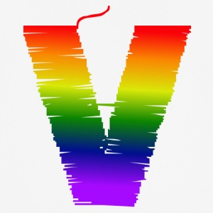 Rainbow V - Pustende T-skjorte for menn