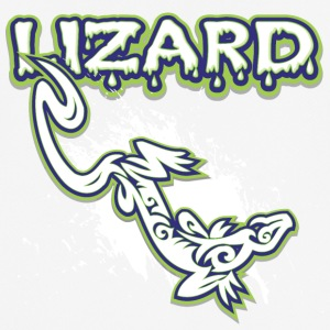 Cool tribal lizard - mannen T-shirt ademend