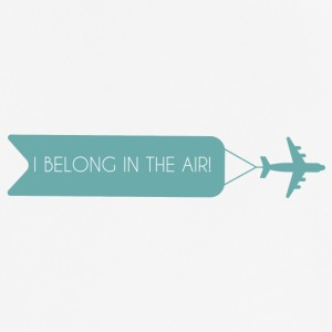Pilot: I Belong In The Air. - Männer T-Shirt atmungsaktiv