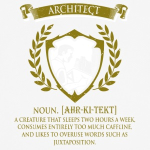 architect - mannen T-shirt ademend