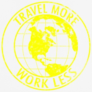 Travel More Work Less - Men's Breathable T-Shirt