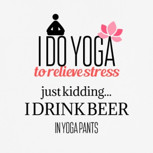 I do Yoga to relieve stress - Men's Breathable T-Shirt