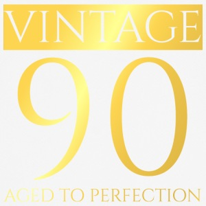 90-årsdag: Vintage 90 - aged to perfection - Pustende T-skjorte for menn