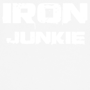 Iron junkie white - Men's Breathable T-Shirt