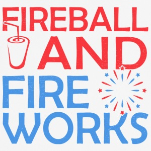 Fireball And Fireworks - Men's Breathable T-Shirt