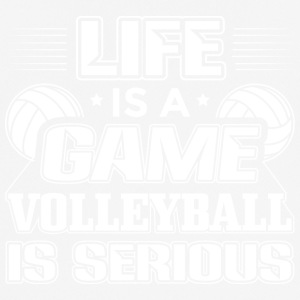 Volleyball Livet er et spil volleyball er Serious - Herre T-shirt svedtransporterende
