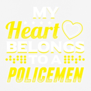 My Heart Belongs To A Policeman - Men's Breathable T-Shirt