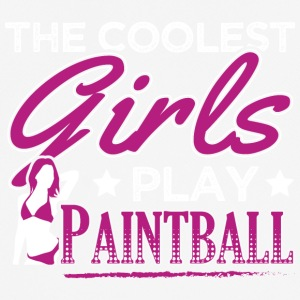 COOLEST GIRLS PLAY PAINTBALL - Men's Breathable T-Shirt