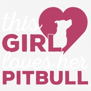 Dog / Pitpull: This Girl Loves Her Pitbull - Men's Breathable T-Shirt