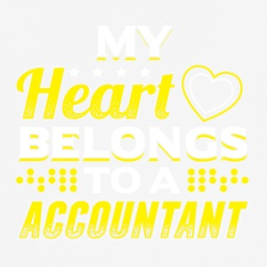 MY HEART tilhører en ACCOUNTANT - Pustende T-skjorte for menn