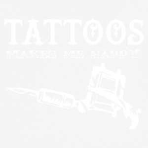 Tattoo / Tätowierung: Tattoos Makes Me Happy - Männer T-Shirt atmungsaktiv